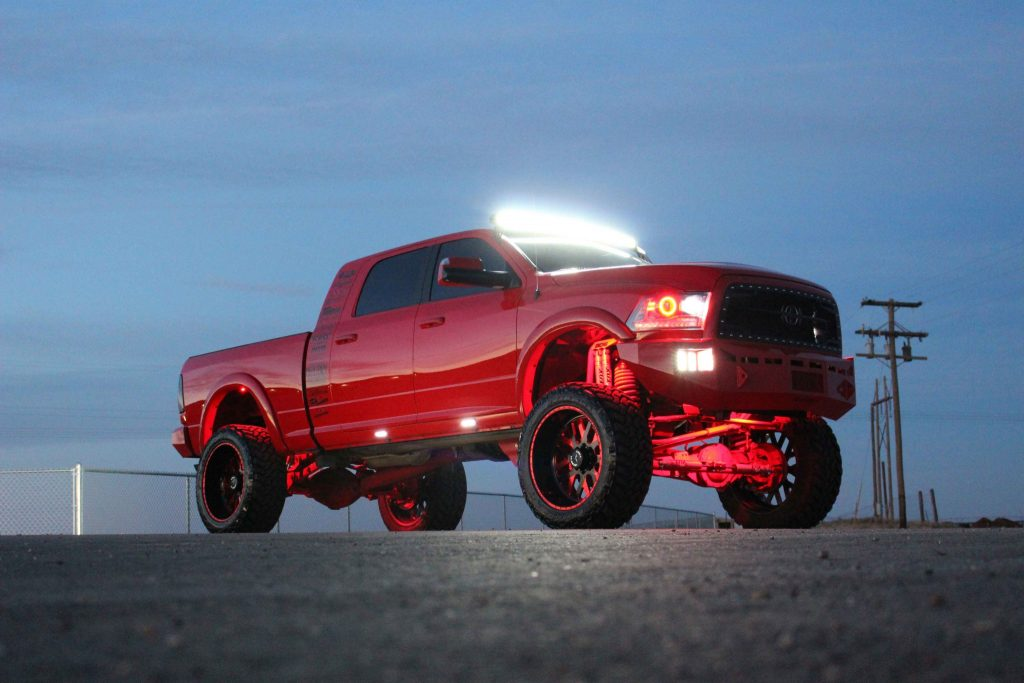 Rigid LEDs are found just about everywhere you look on 5 Knights' SEMA Ram.