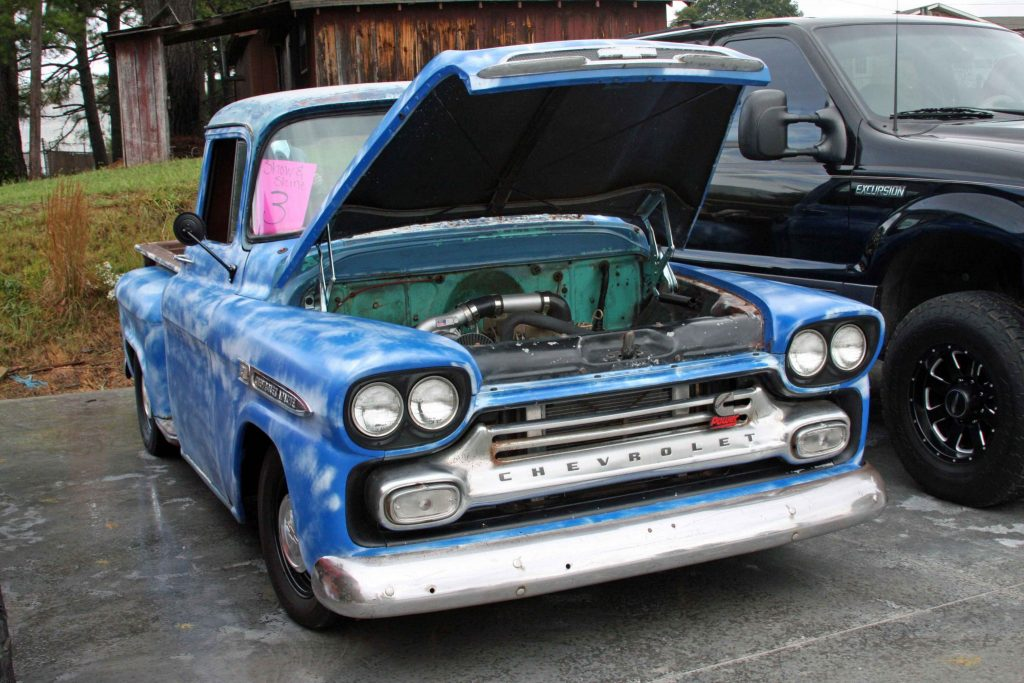 cool Chevrolet Apache sports a non-intercooled 12-valve Cummins