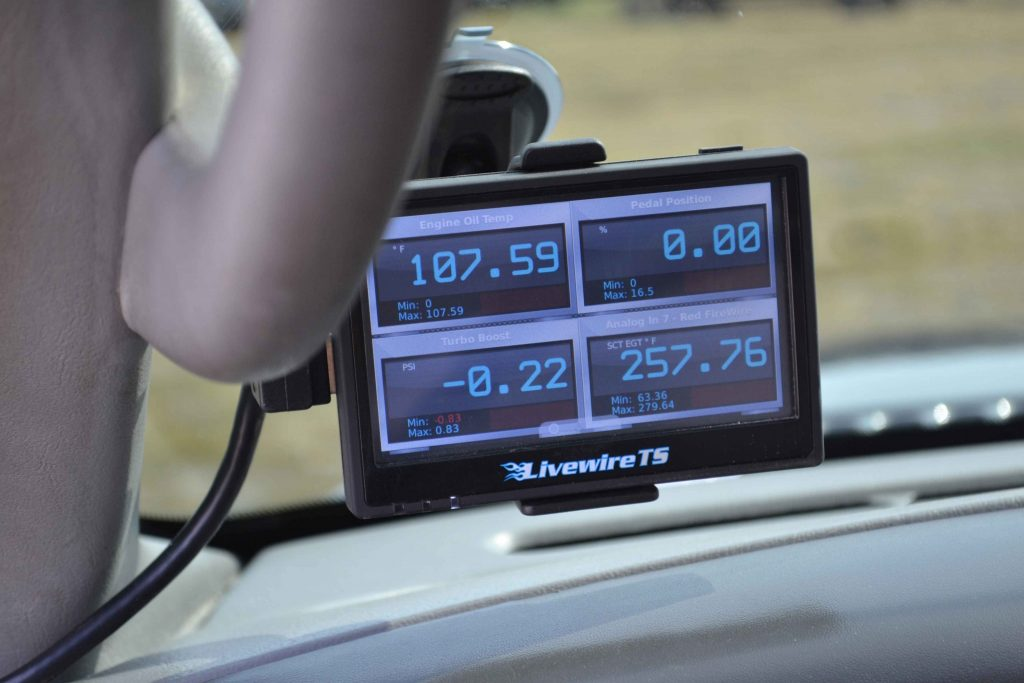 Multiple gauges in one unit are available thanks to a SCT Livewire monitor/programmer combo.