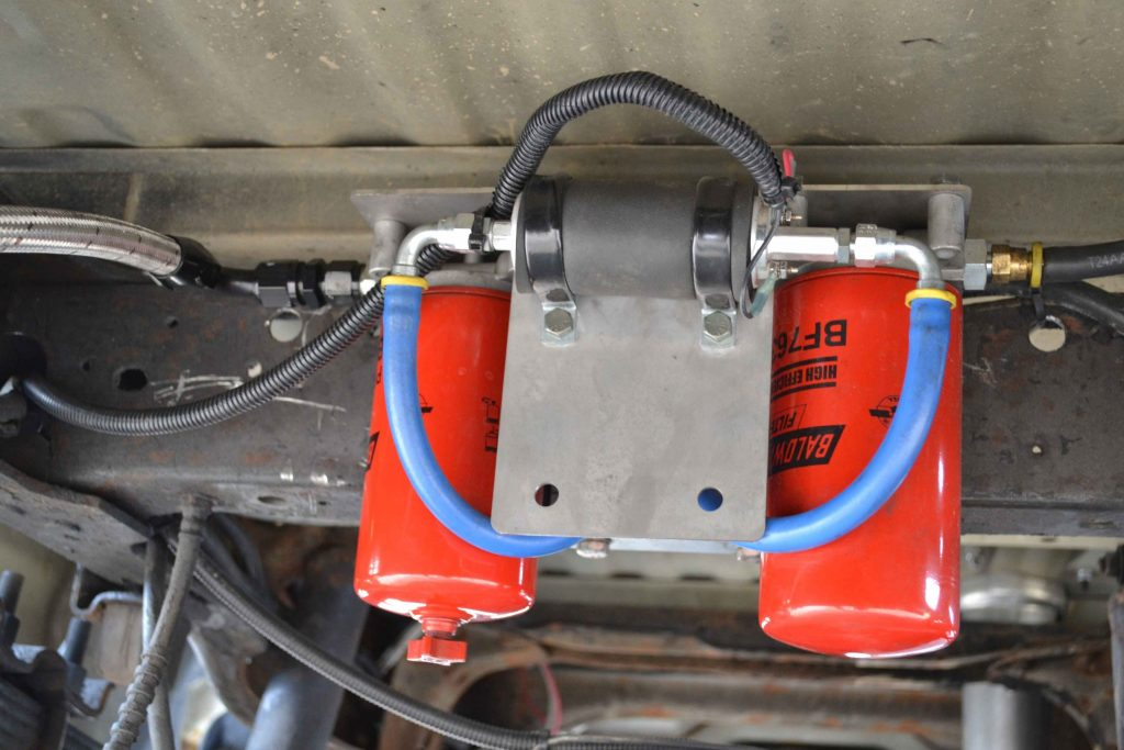 Irate Diesel makes fuel pump system using twin fuel filters and a Walbro 392 lift pump.