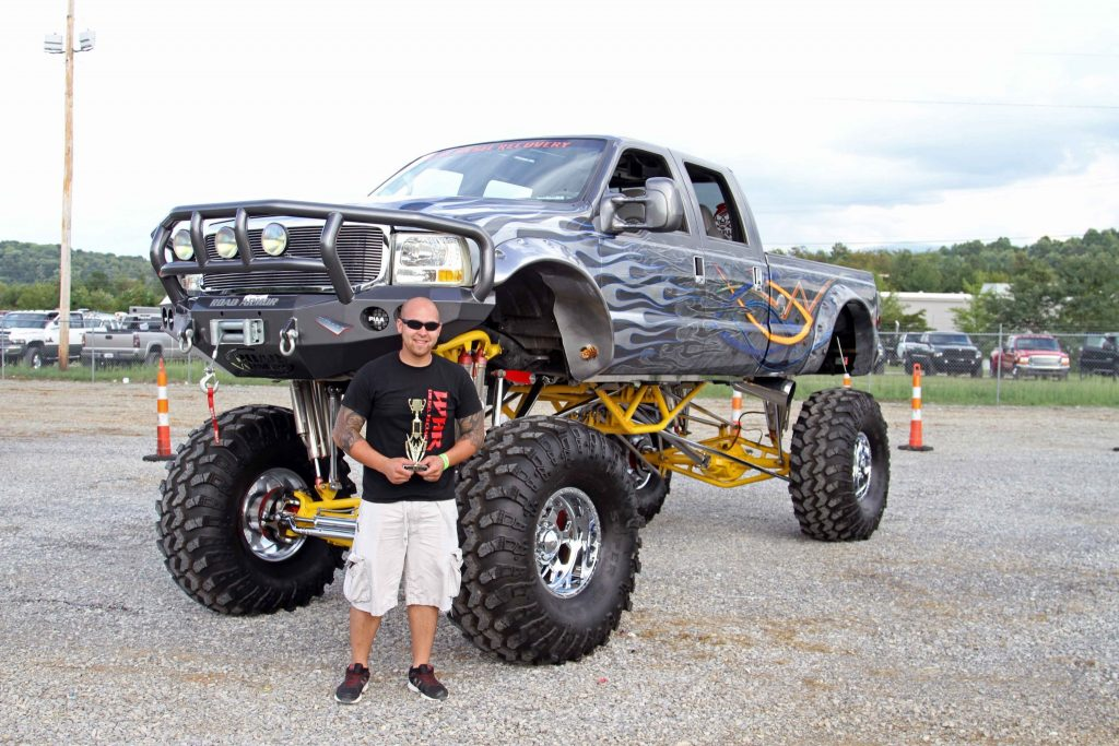 Will Riner and his monster-sized 2002 Ford