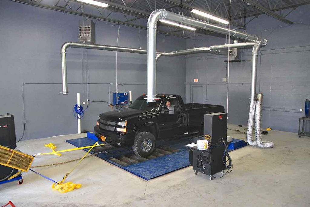 the in-house Mustang dyno