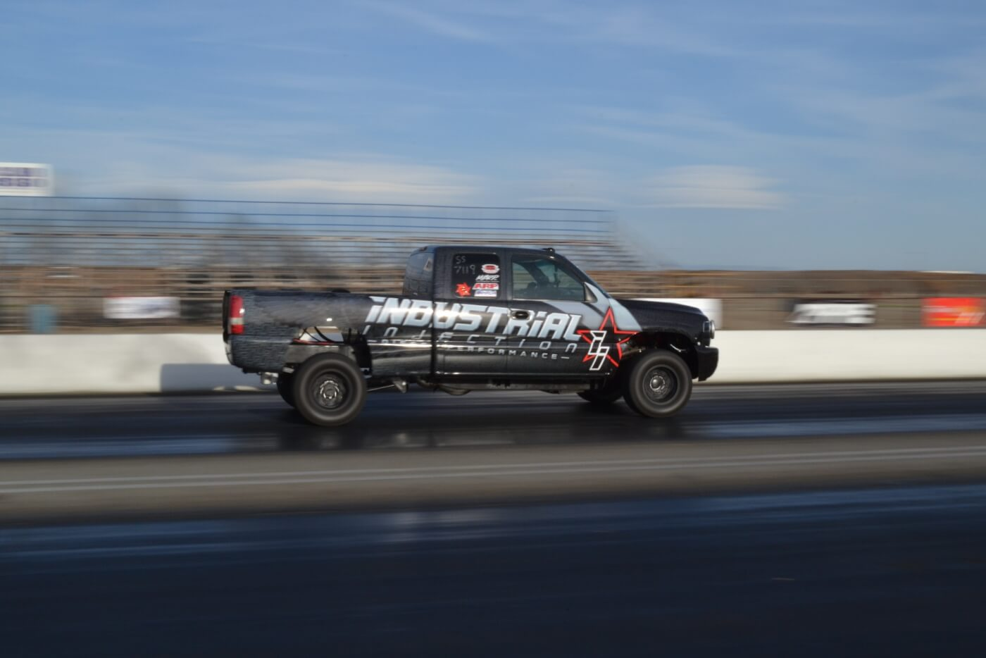 Brett Williams from Industrial Injection in his 2001 Chevy Duramax.