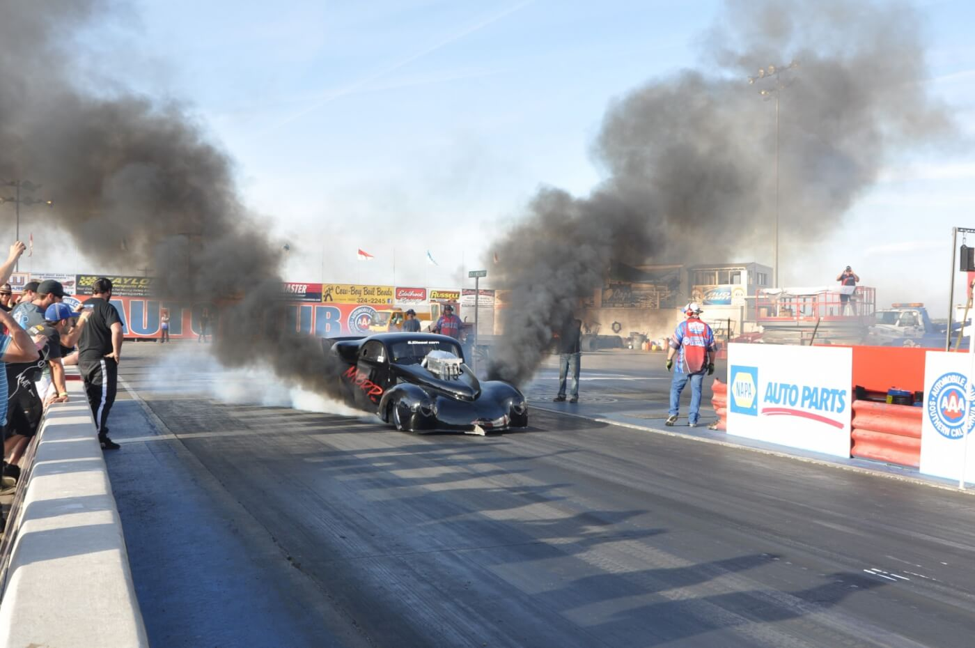 """Ryan Milliken piloted the Duramax-powered, Pro Stock """"Batmobile"""" to a win in Pro Stock."""