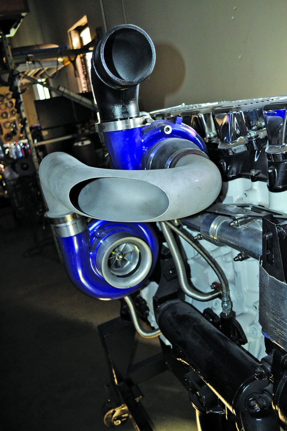 Check out this cool compound turbo setup that's being developed for a large CAT engine.