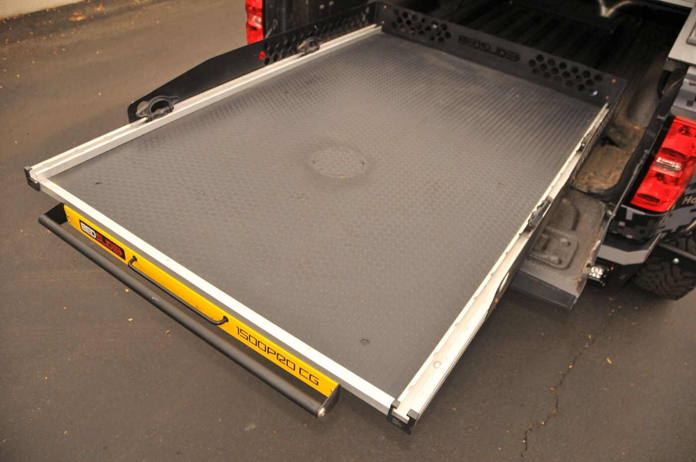 The BedSlide 1500 Pro CG allows Fromm to load and unload the bed with minimal effort.