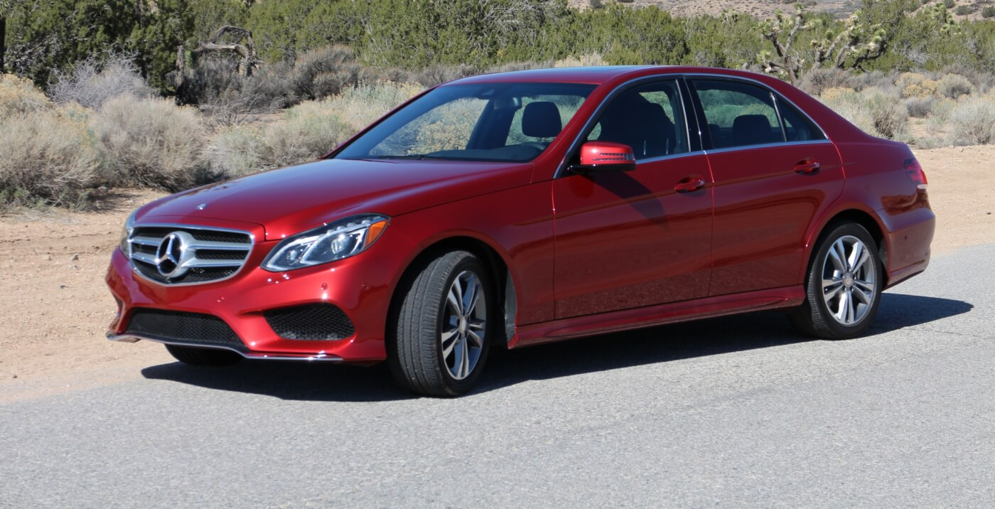 By most accounts, the Mercedes-Benz E-class sedan is considered to be in the Mid-Size Luxury class. Essentially, this means that it's more upscale than entry-level four-door cars, with more bells and whistles, while being smaller in scale than the full-size sedan.