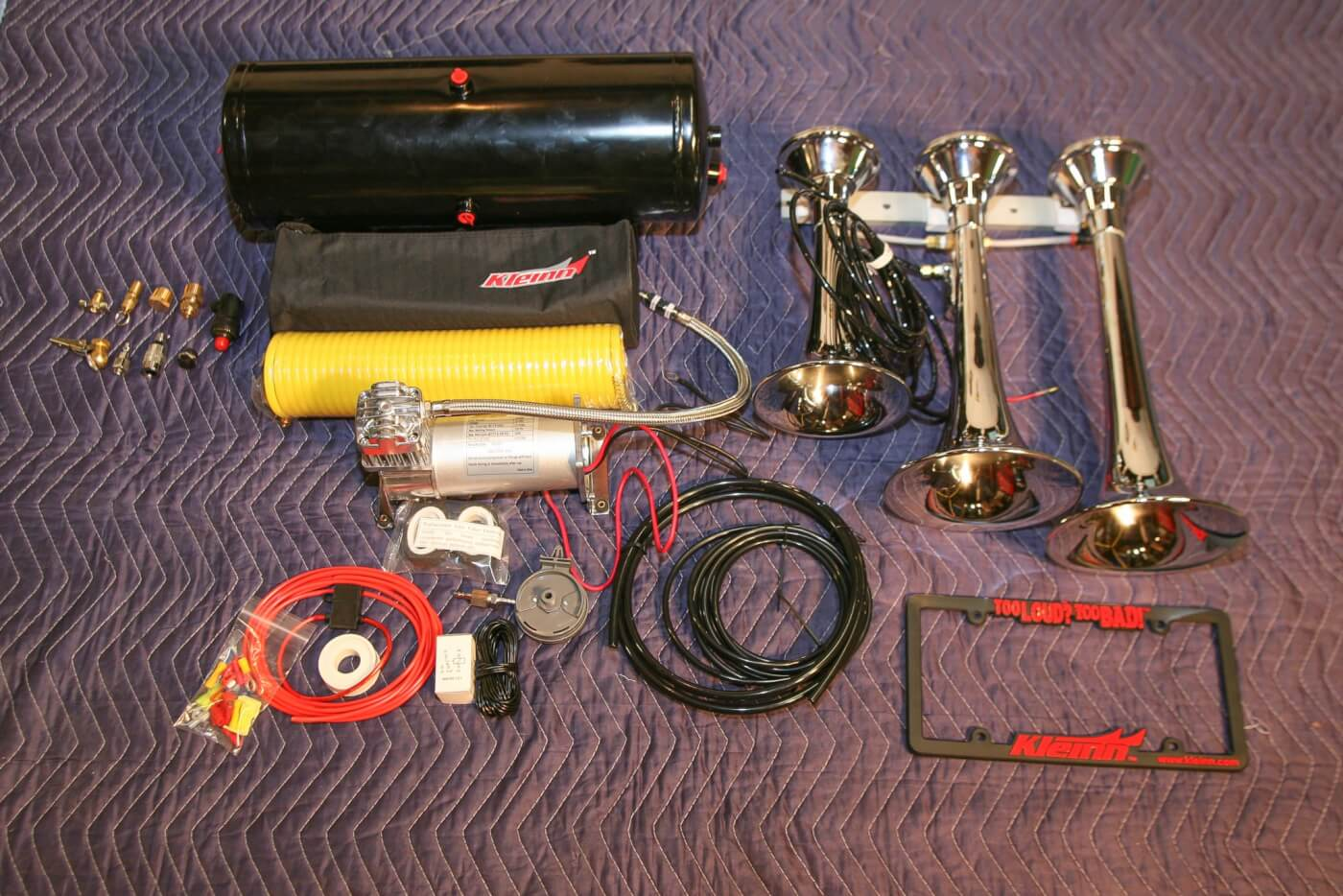 behold, the kleinn hk8 problaster triple train horn kit