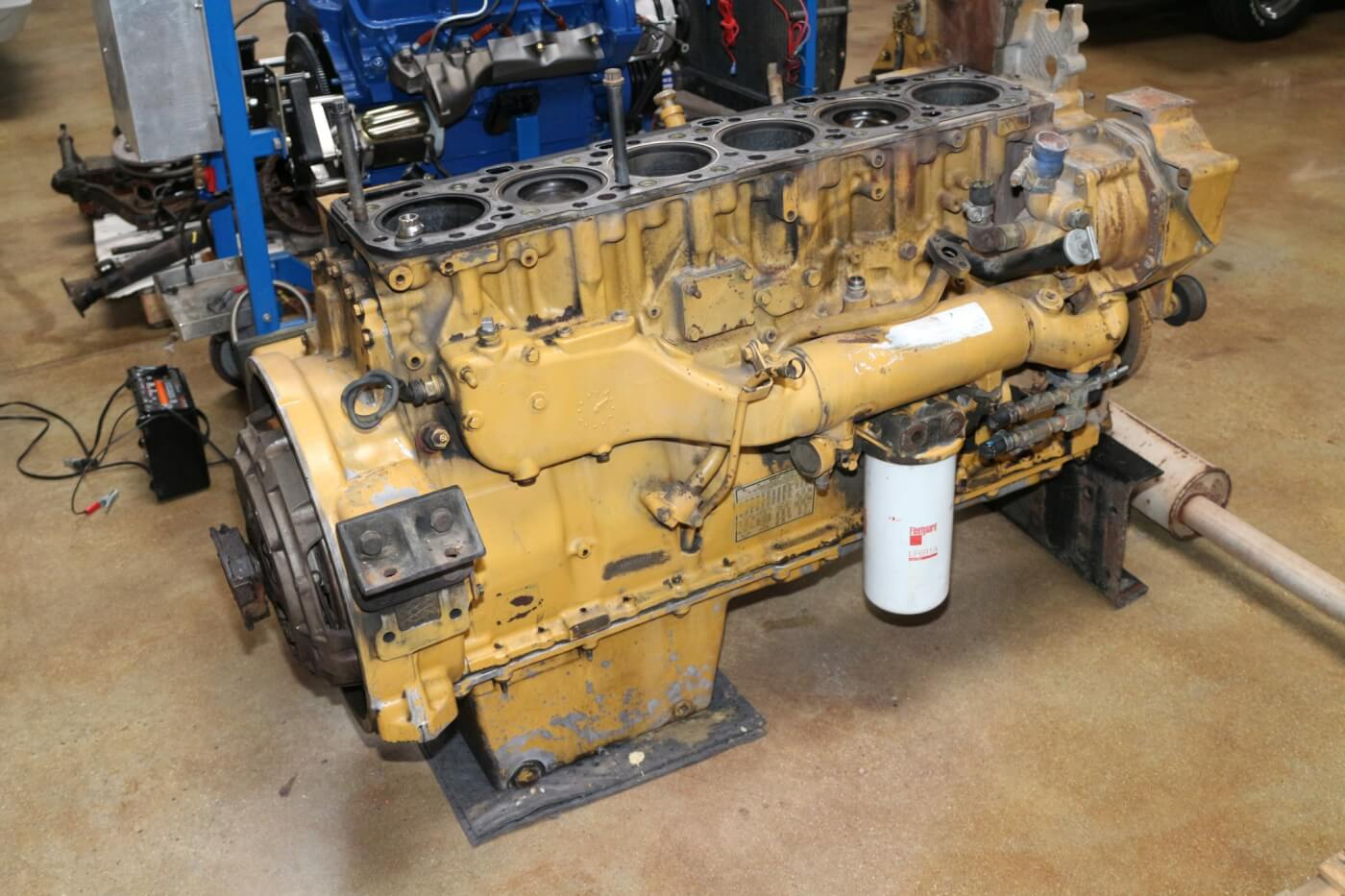 ARP is constantly developing new products. We found this Cat 16 engine in their R&D shop being used to engineer another line of diesel engine upgrade assembly hardware.