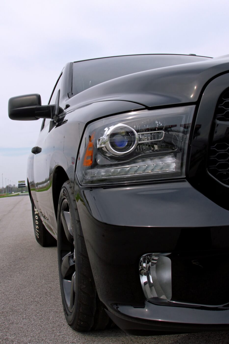 Milliken chose to retain the truck's lights and mirrors, giving the truck the look of a sport truck with the bite of a race truck.