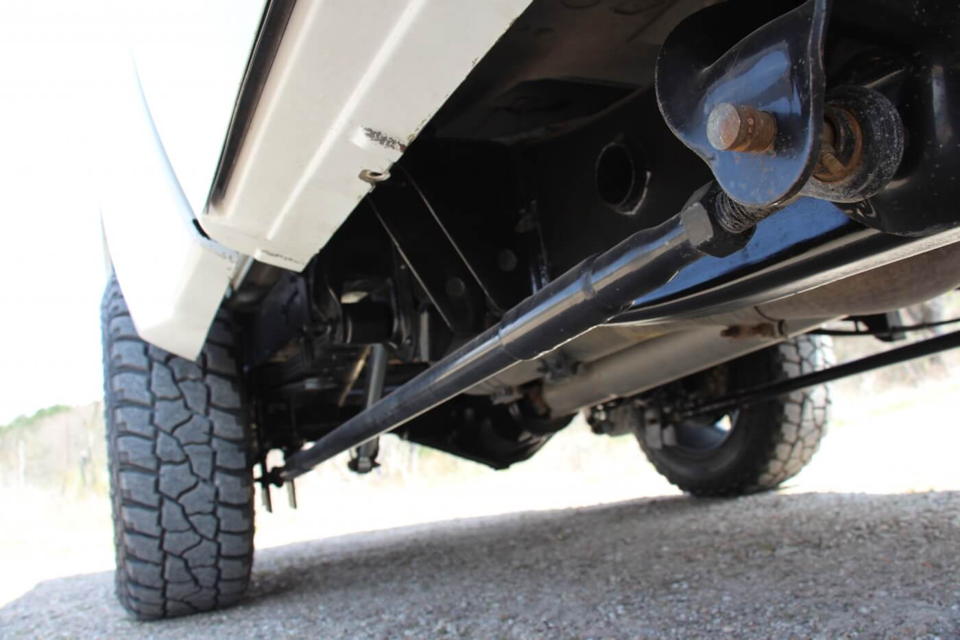 Kaden's good friend, Jon Elliott, built the traction bars harbored under the truck. Made with heavy-duty Schedule 80 pipe, they haven't skipped a beat so far—surviving their fair share of sled pull and drag-strip abuse.