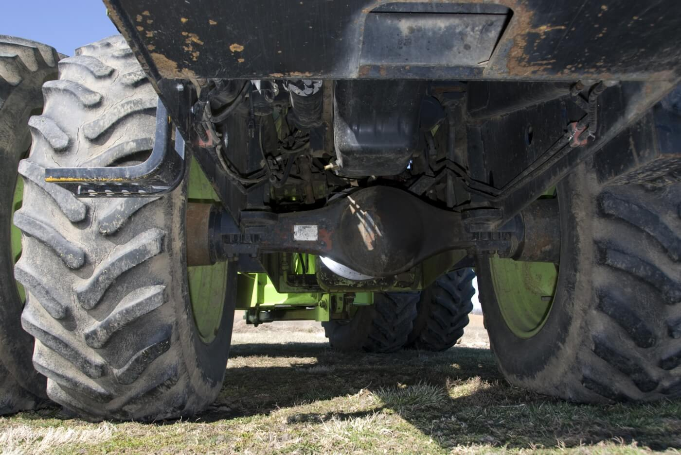 RABA makes the axles, which feature single or double reduction hubs. They're made in Hungary at a licensed Steiger tractor plant.