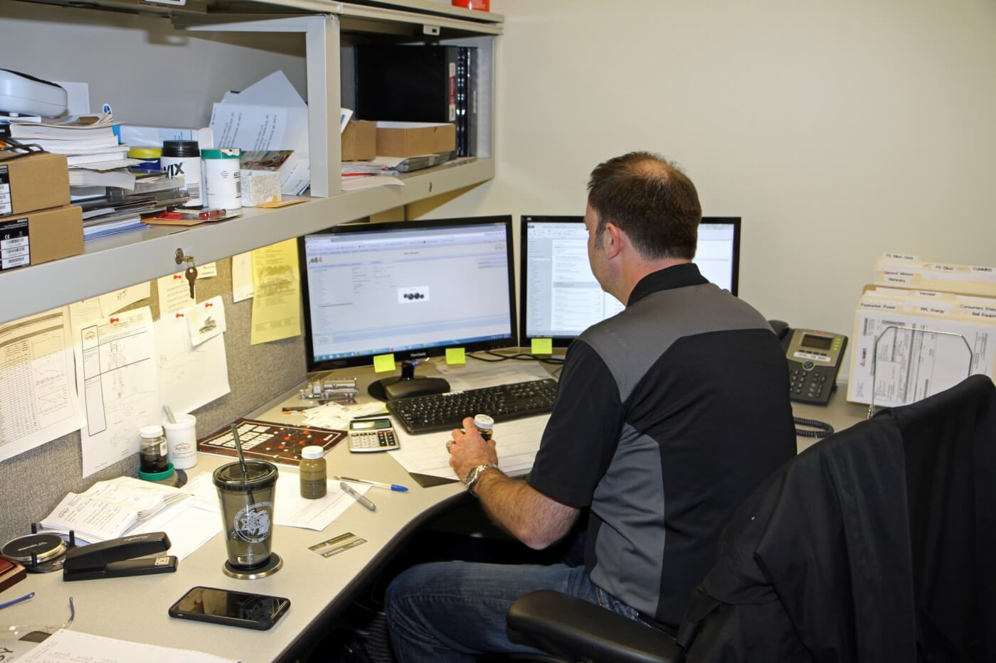 6. Rather than waiting for our samples to arrive via mail, we saved time and hand-delivered both samples to the team at Apex Oil Lab; Jason Rainey labeled and logged each bottle into the Apex system for processing and analysis.