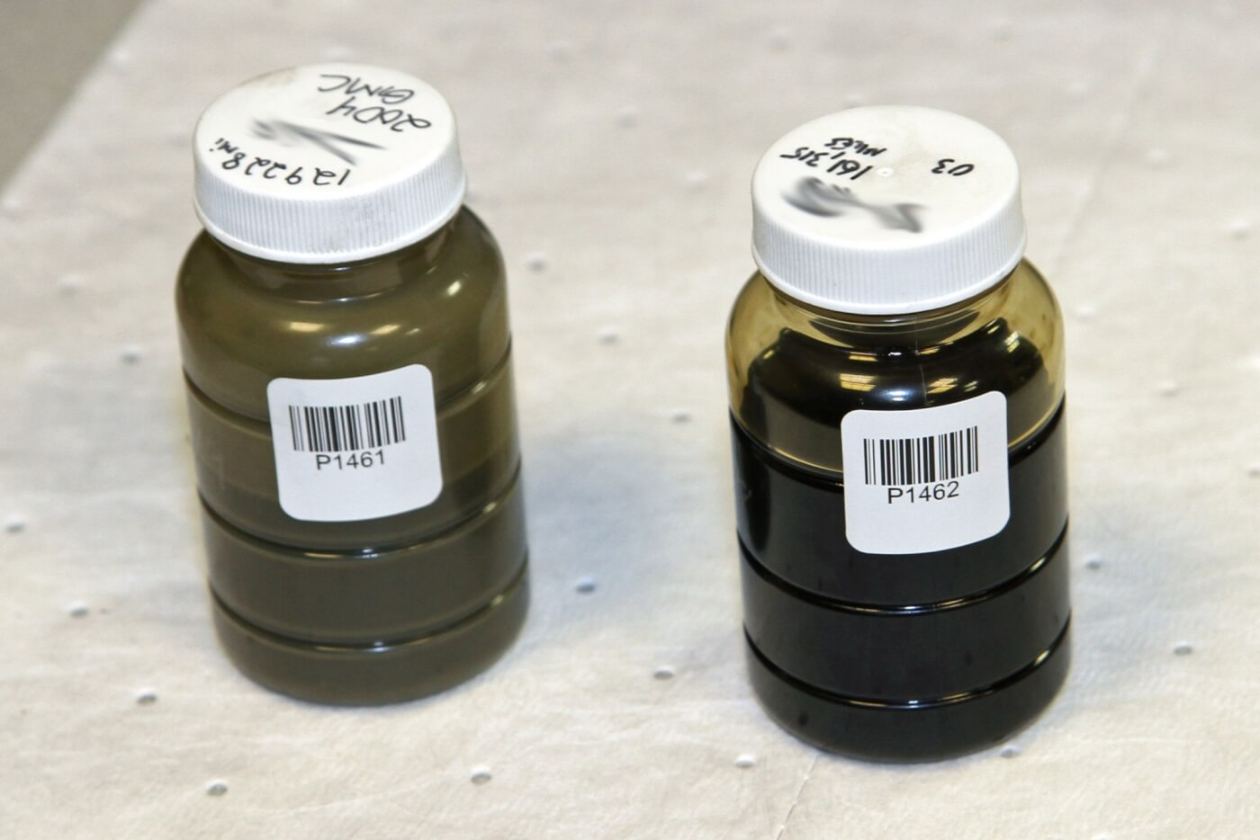 7. Each sample bottle gets its own unique number and bar code so that it can be logged and scanned at each test station to be sure that the test results correlate to the proper sample.