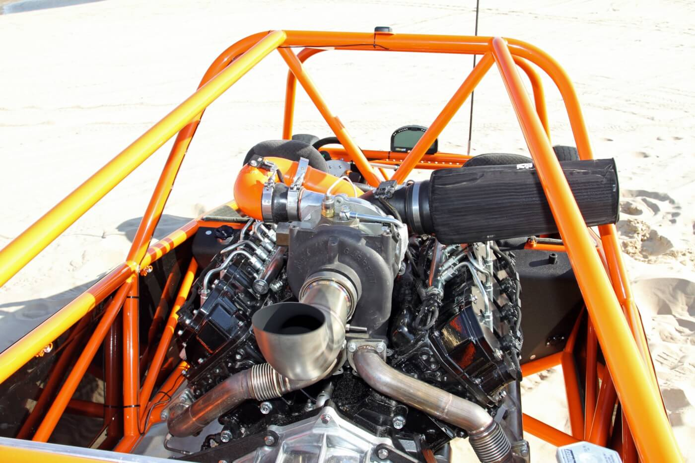 The heart of the beast is a potent LBZ Duramax engine that was warmed over by the Merchant Automotive crew to give the buggy plenty of power.