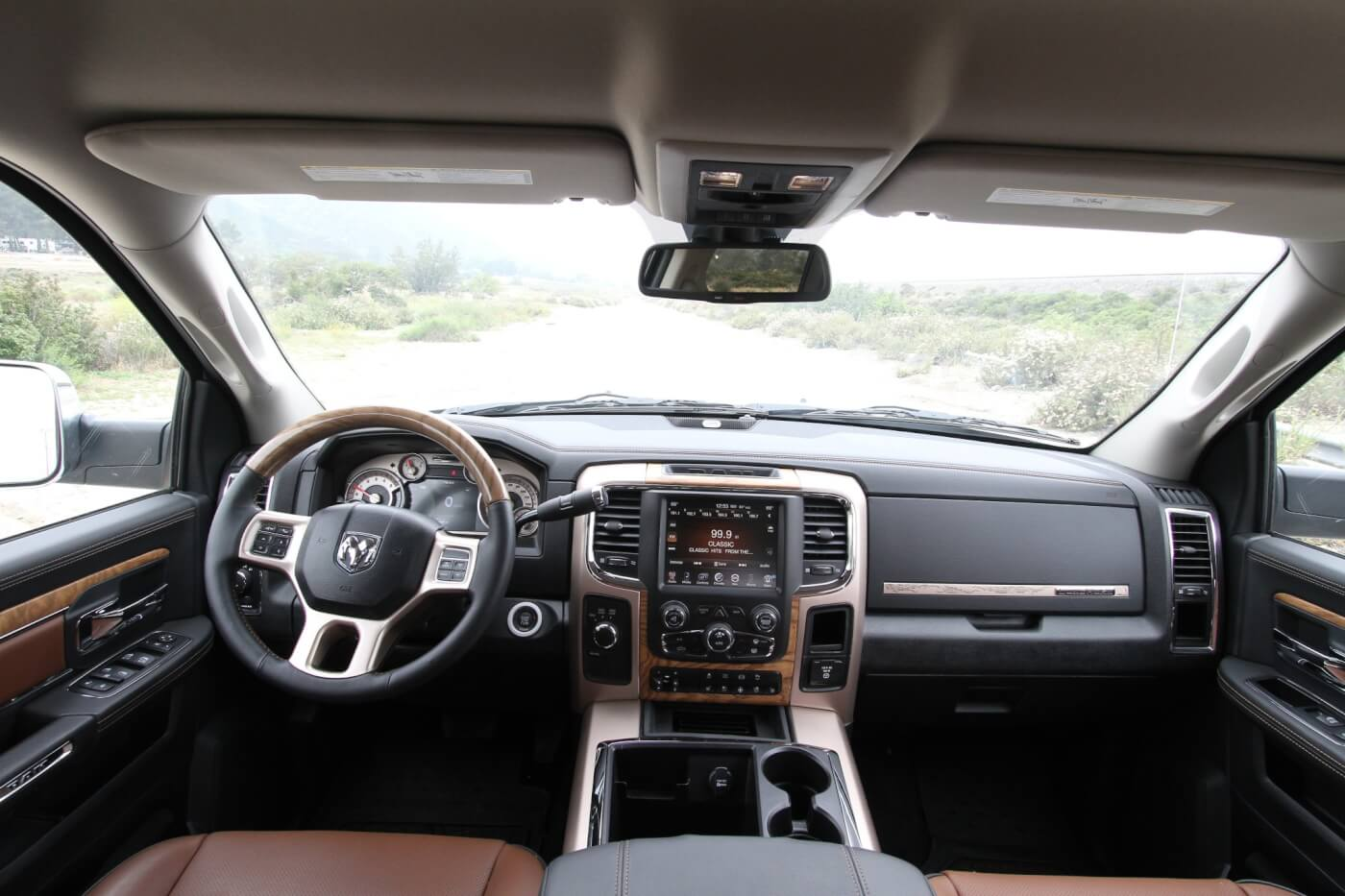 13. The interior of the Ram 3500 is comfortable, roomy, and designed for easy use of all features.