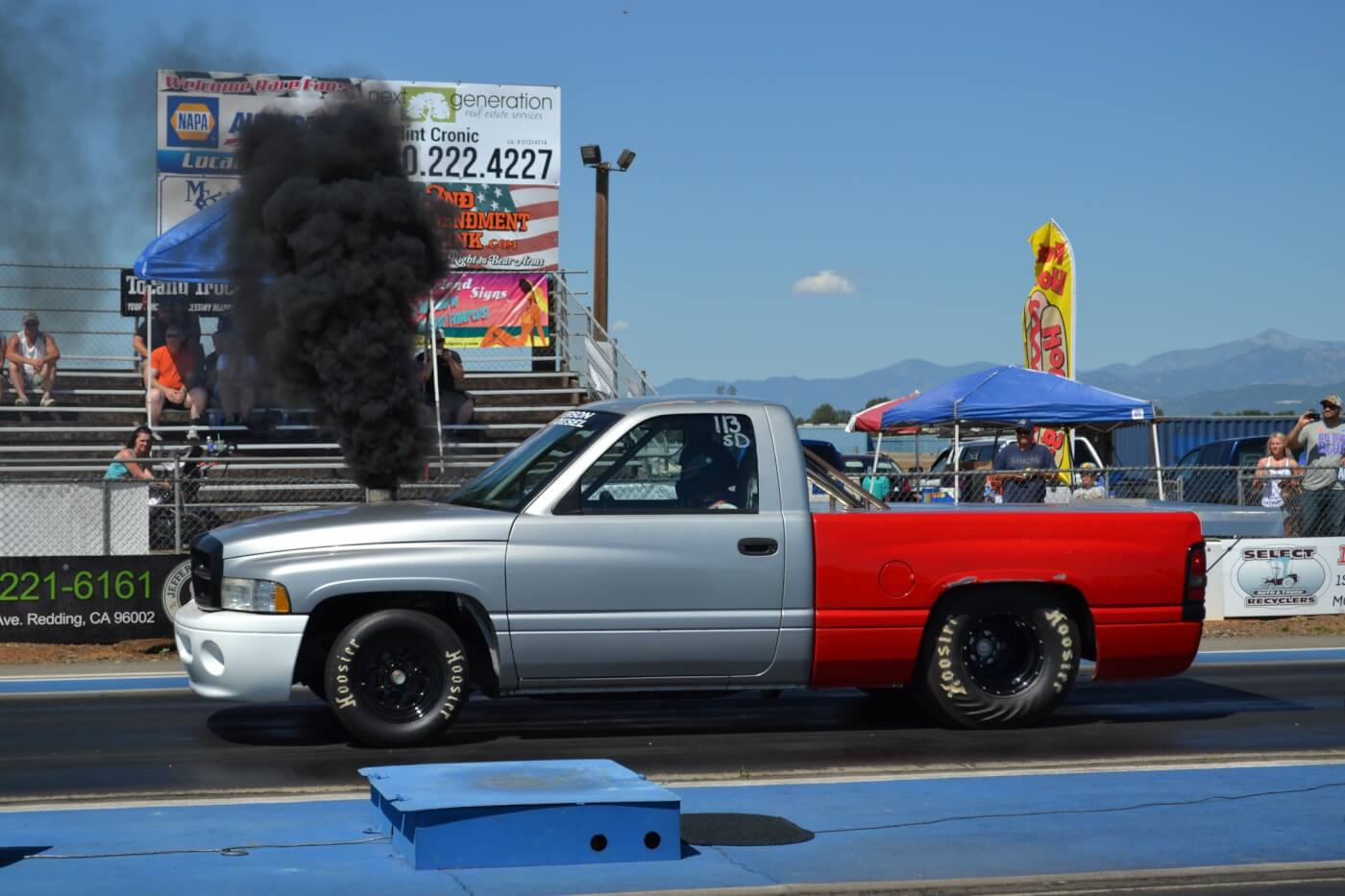 Diesels usually have a heck of a time making full passes the first time to the track, but Aaron Flournoy was able to dip into the 10-second zone the first time out, with his 12-valve powered drag truck. With a best of 10.87 at 126 mph with a spinning 1.74 60ft, look for this Ram to dip into the 9s soon.
