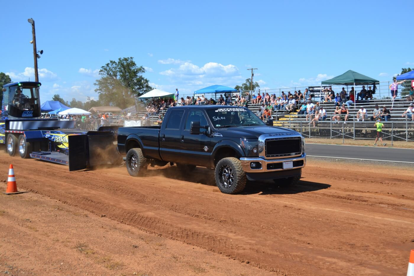 Jeremy Wright, one of the co-owners of Jefferson State Diesel, made an appearance in the Stock Class, where he finished mid-pack in his daily driven Ford.