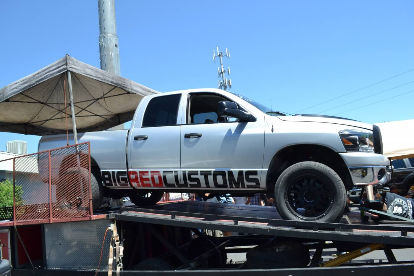Some competitors who had run at the track decided to test their rides on the dyno as well. This Dodge from Big Red Customs laid down close to 700 rear-wheel horsepower with a 73mm turbocharger and some 250 hp injectors from Industrial Injection.