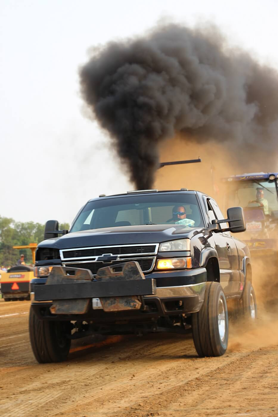 Storming his way to Fourth Place in the Open Street Diesel Truck Class was Kyle Kropp's nasty Duramax. His Silverado would carry him just over 319 feet. In the Work Stock Class, he would end up third, hauling the iron Bungart sled a total of 341 feet.