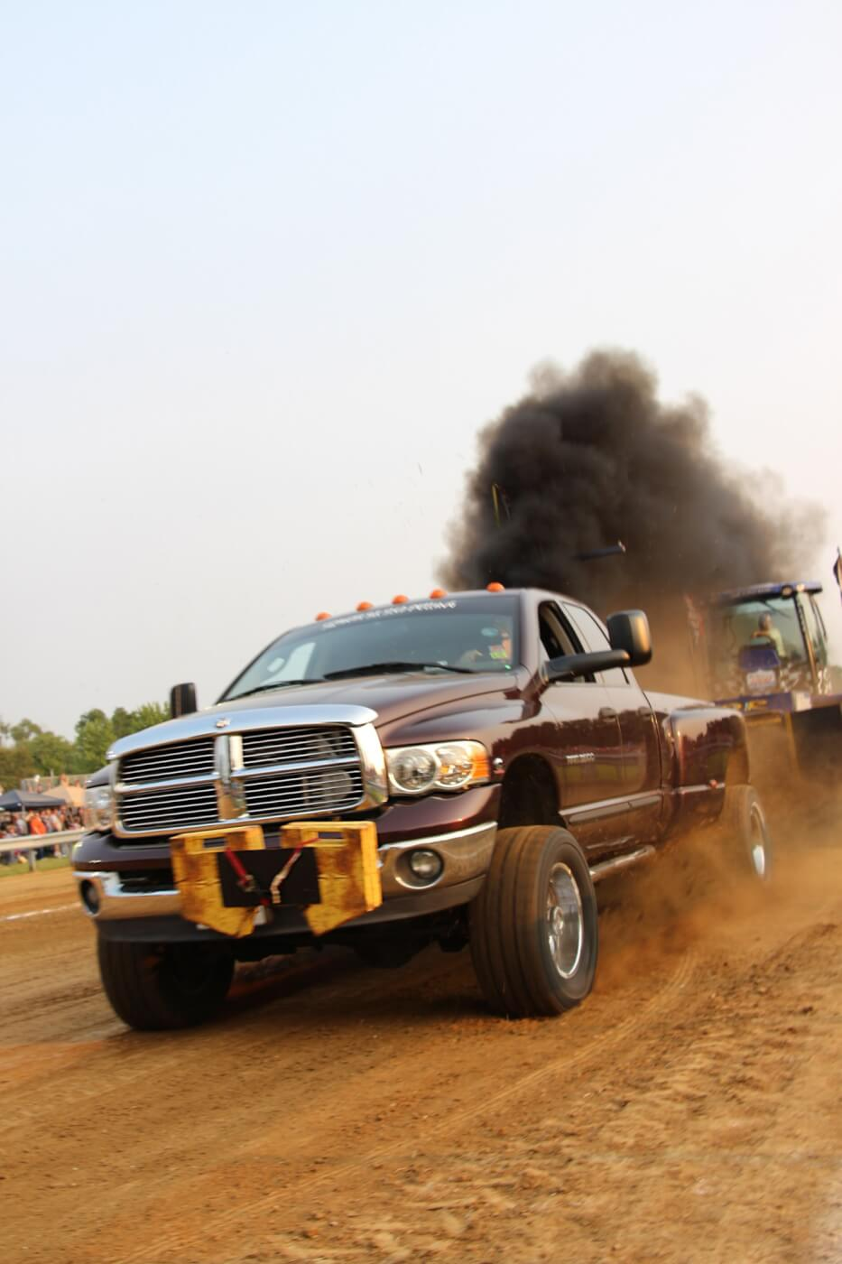 Clawing his way to a 328-feet second place finish in Open Street was Eric Loy's 2005 Dodge Ram 3500. He would also pull in the Work Stock Class later in the night—the class his truck was built to compete in—where he claimed first.