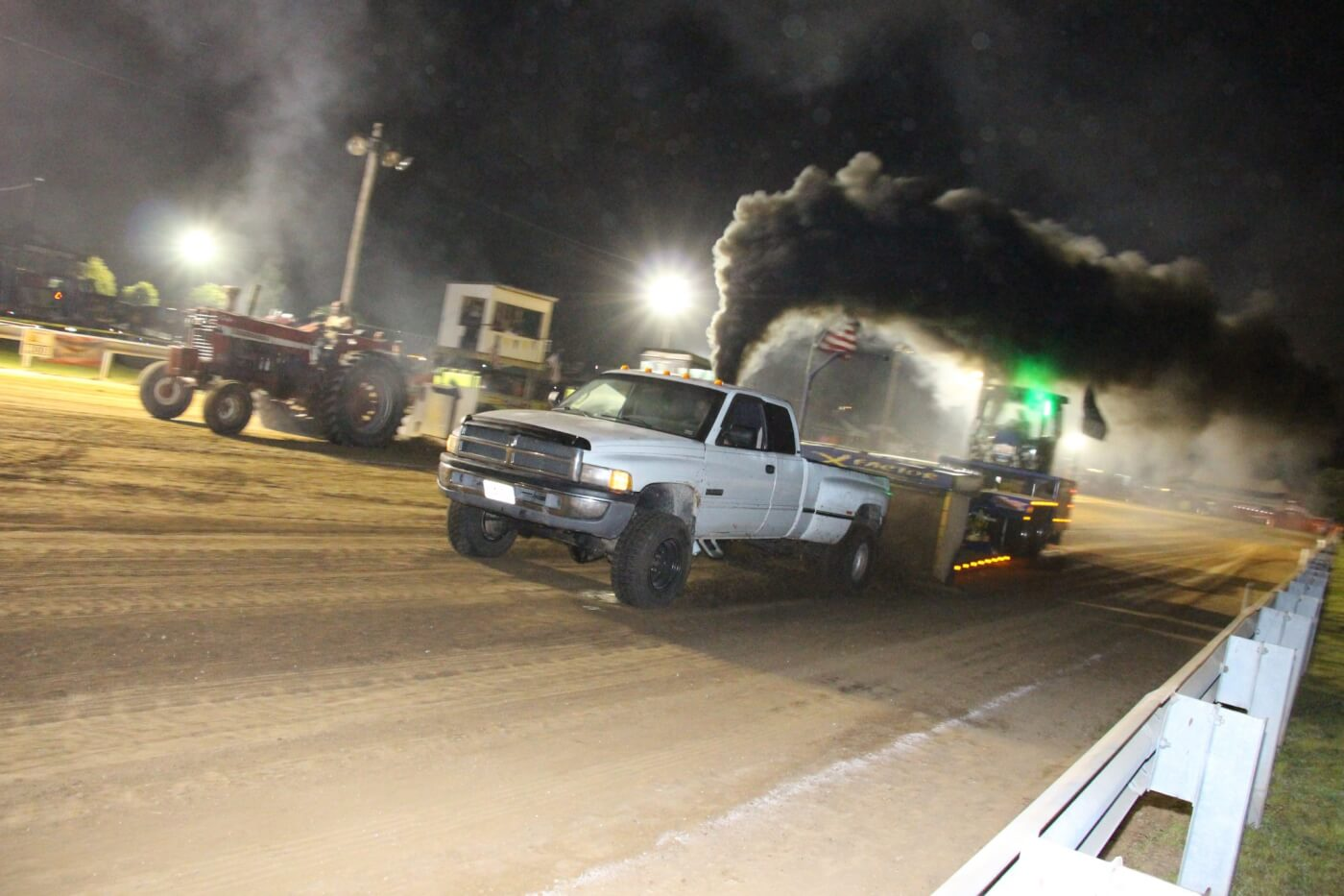 Another strong running 12-valve candidate in the Work Stock Class was Morgan Primm's Dodge Ram 3500. This truck takes advantage of class rules, which allow Cummins powered vehicles to use a T4 flanged, S300-based turbocharger. Unfortunately, some clutch gremlins shut Morgan down a tad early in his run.