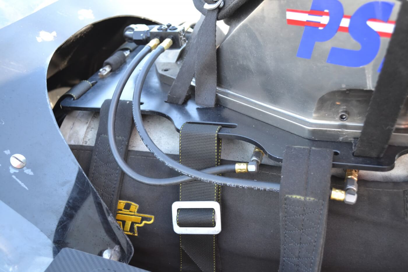 The big PSI 206D screw blower takes more power than a turbo to drive, but is capable of instant boost as soon as the throttle is matted. The four-butterfly hat is also from PSI, while the lines under the hat are for the water/oil injection.