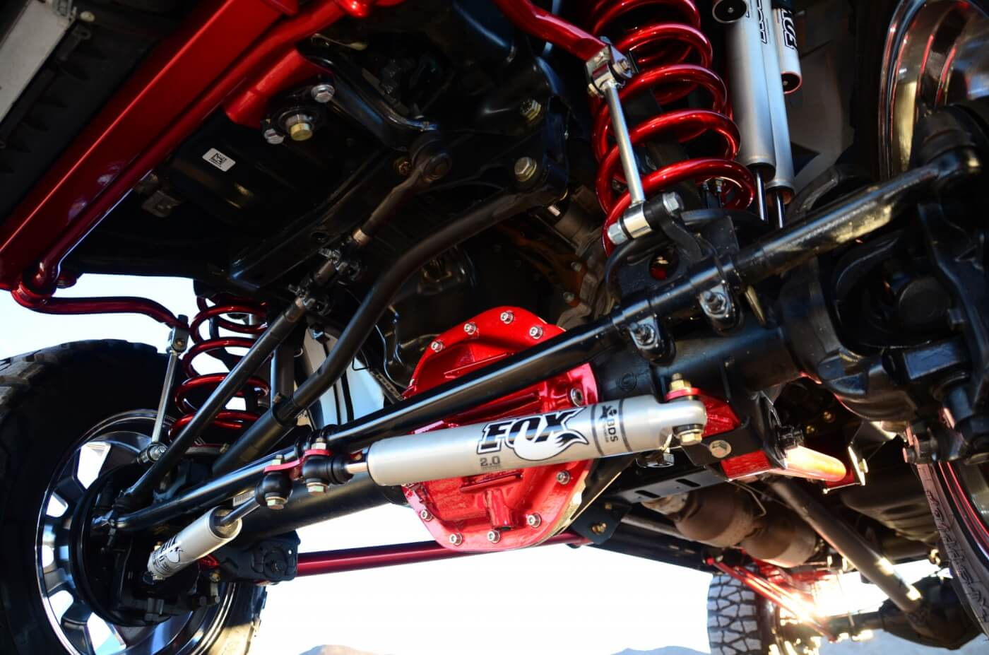 How A Father Son Combo Built Sema Rig Dodge Ram 2500 Track Bar Street To Sand Off Road Performance Installed An Eight Inch 4 Link