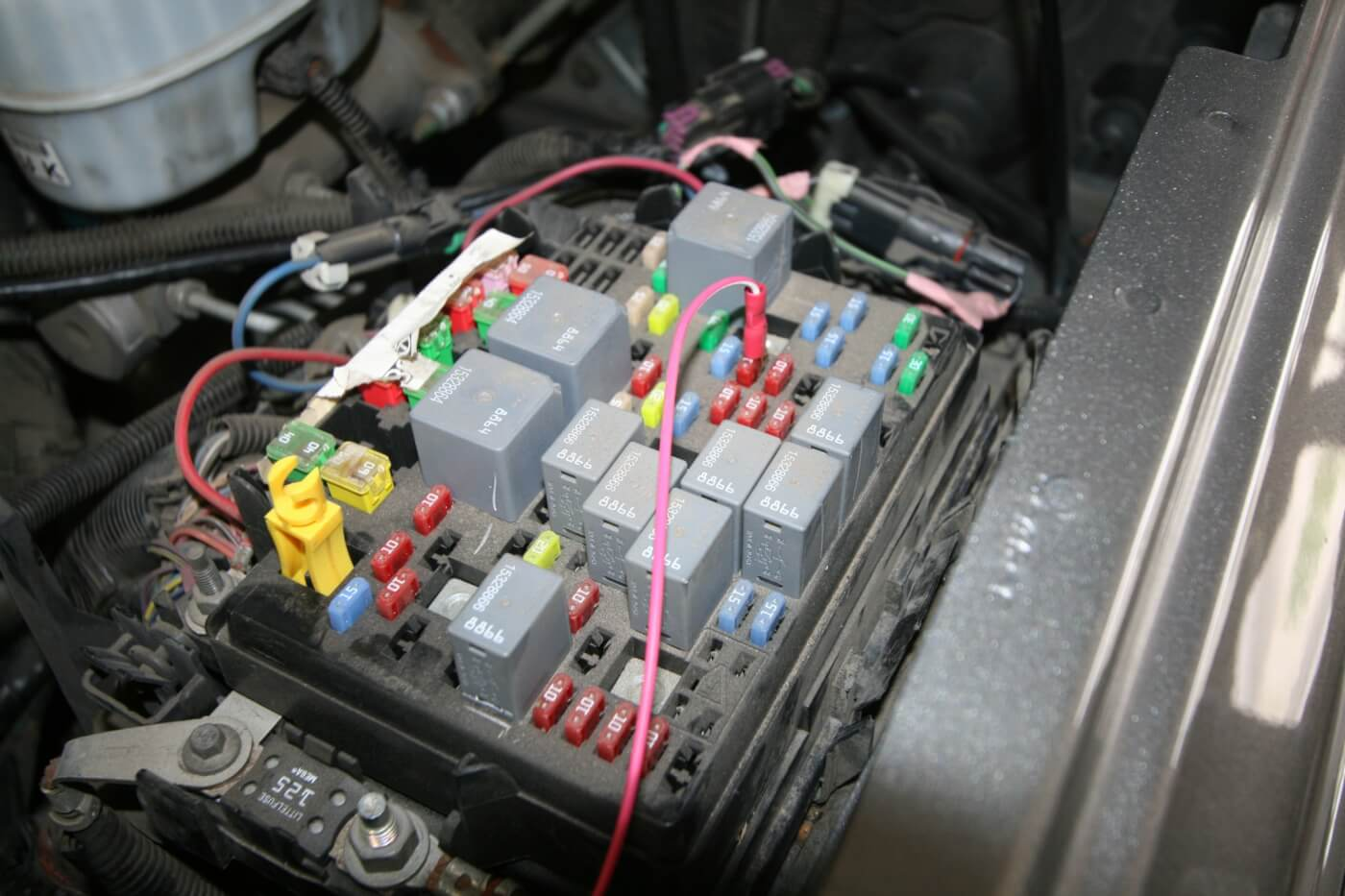 DW 1601 GMBANKS 11 speedbrake installation on a duramax 1974 Chevy Truck Fuse Box Diagram at webbmarketing.co