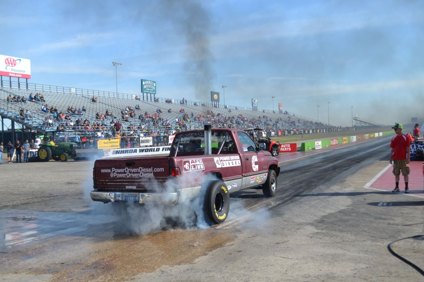 """Two wheel drive diesels on slicks could be seen everywhere this year at the World Finals. Trucks like Power Driven Diesel's 10-second """"Junker Drag Truck"""" wowed the crowd with big burnouts and quick elapsed times."""