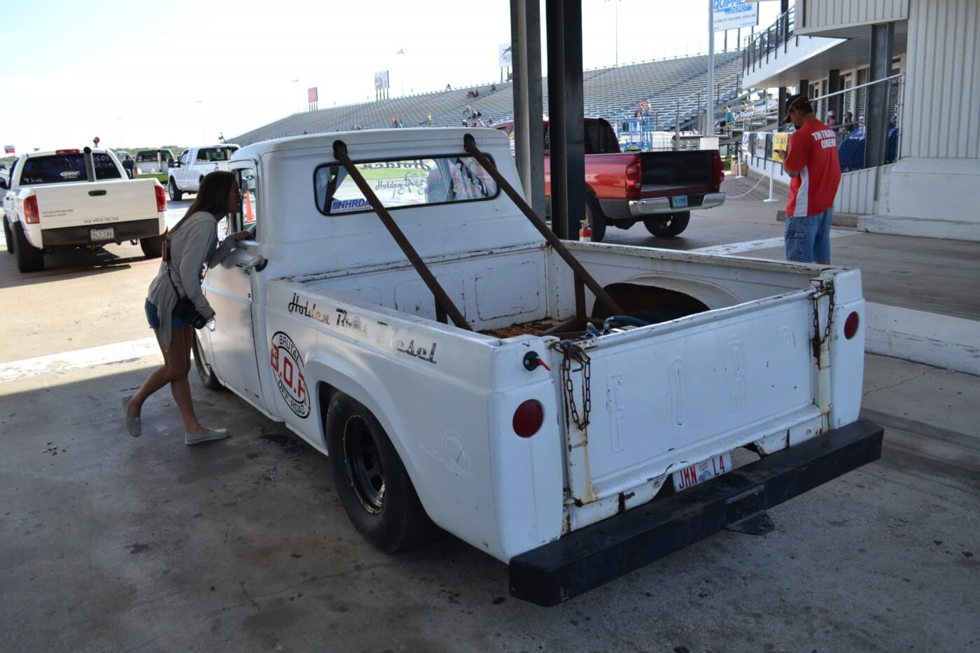 In the Sportsman bracket class, virtually anything and everything could be seen headed down the strip, like this cool old Cummins-powered Ford.