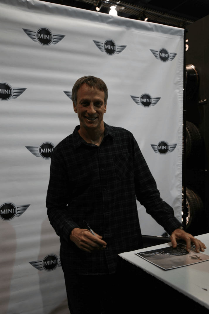Kevin Aguilar, the editor of our sister magazine Street Trucks, spotted his skating hero, Tony Hawk, and was lucky enough to grab a pic for us.