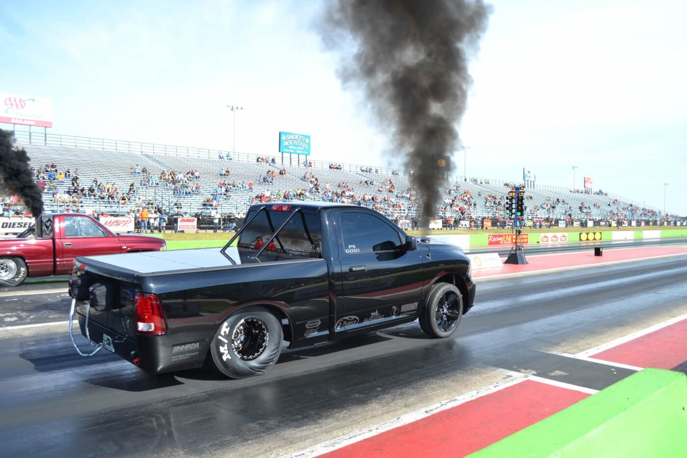 Probably the cleanest truck in attendance (racer or not), Ryan Milliken's Pro Street class Dodge went low 9's in the quarter before having transmission issues.