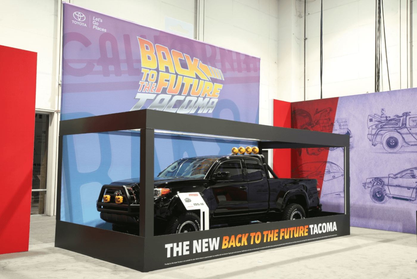 """Toyota's Back to the Future edition Tacoma. Not a diesel, but you know your childhood self is screaming """"I want it!"""""""