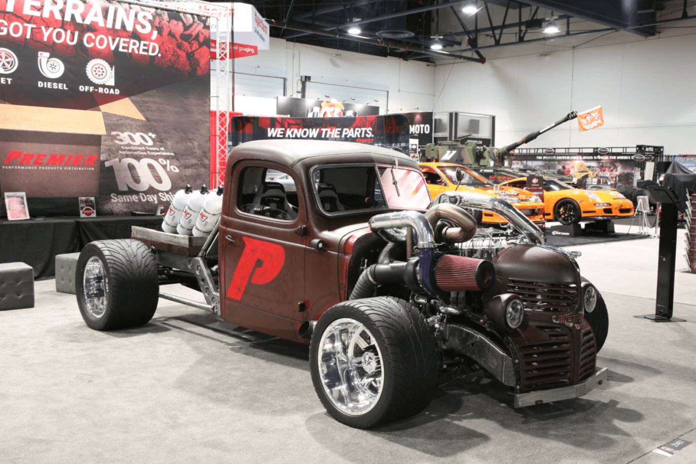 Premier Performance built this rat rod that were sure could eat just about any other rat rod on the track, and the dyno as well! Powered by a 6BT complete with a compound turbo setup and six—yes six—15 lb. nitrous bottles in the bed. Talk about overkill!