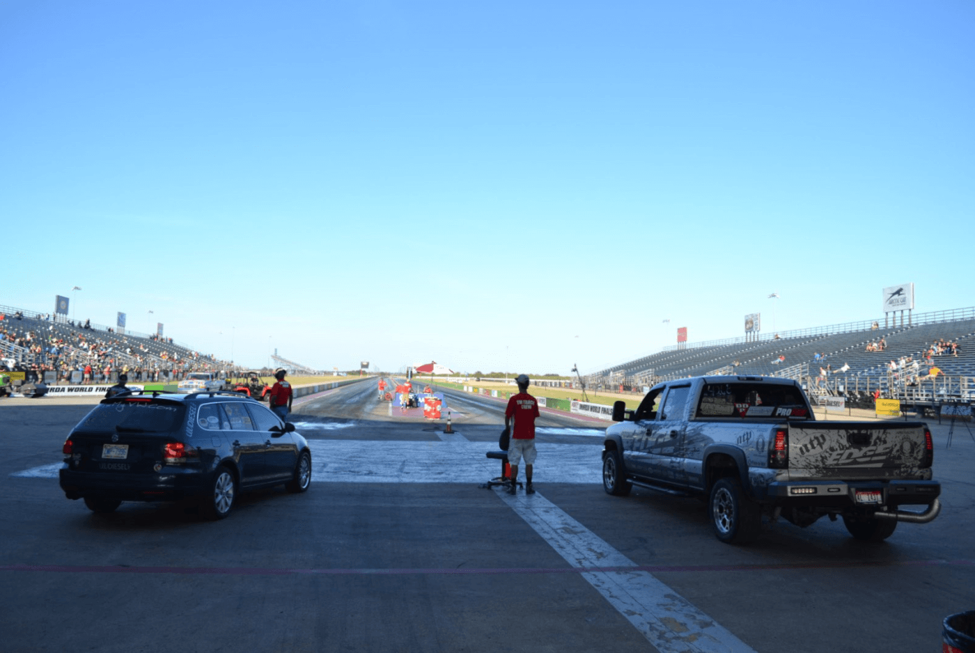 The Sporstsman class final came down to Verlon Southwick (who'd already won Super Diesel) and Trey Sikes, who piloted his diesel-powered Jetta to a close win over Verlon.