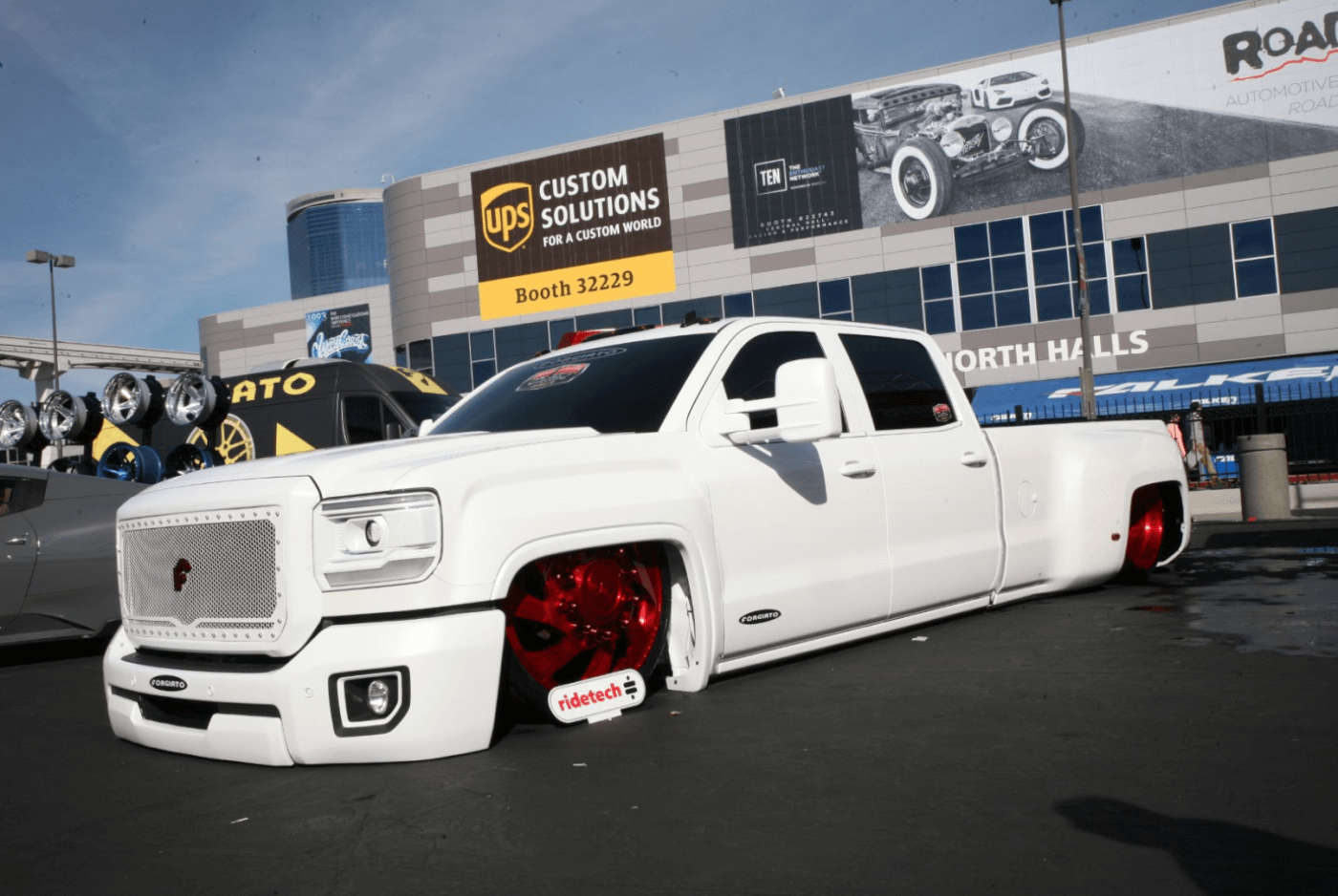 This GMC was built by Dustin DeLeon, a former employee of Gas Monkey Garage from the popular TV show Fast And Loud. With a full body drop, it doesn't get much lower than that.