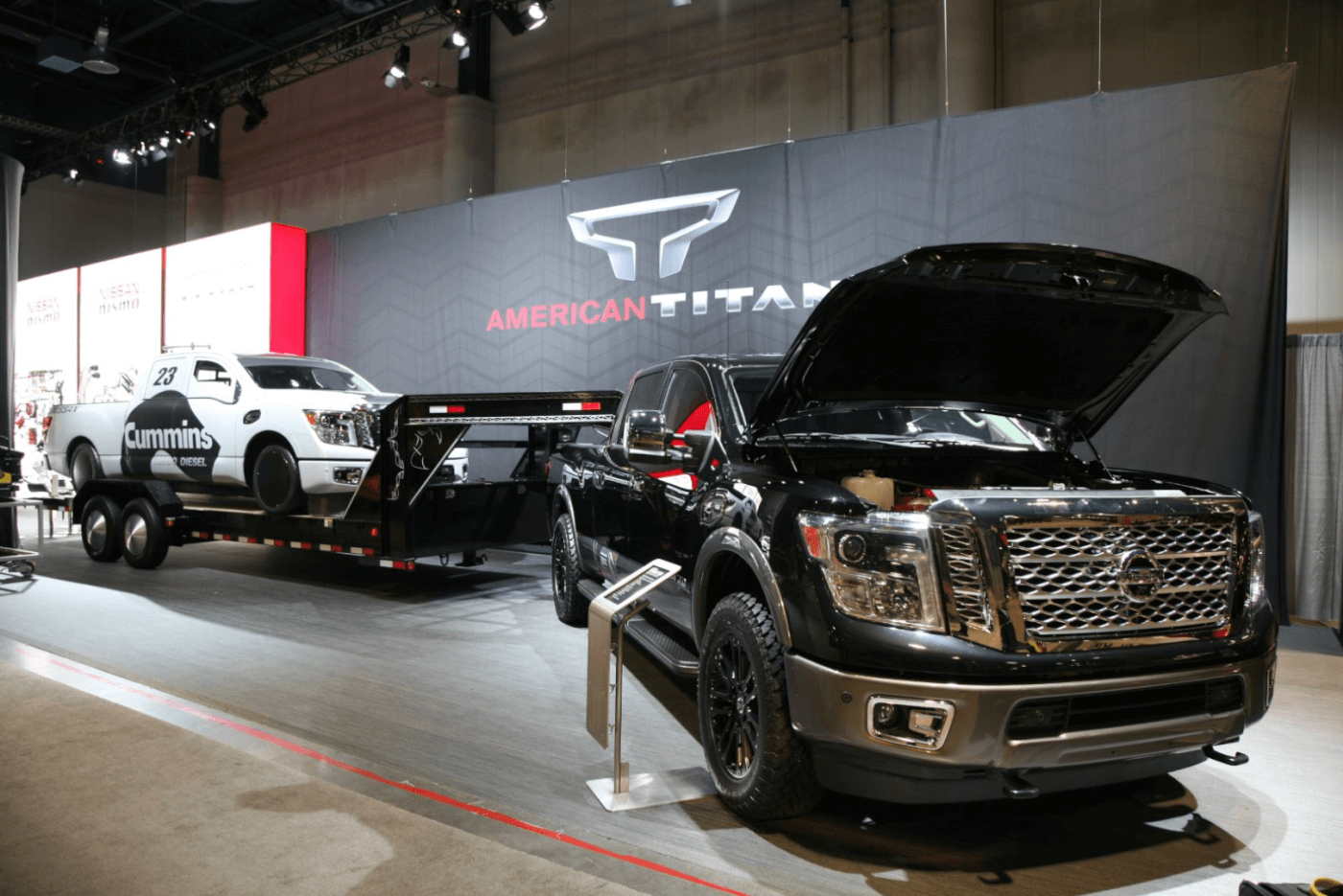 """With the release of the new Cummins powered Nissan Titan, Nissan has decided to go after a new land-speed record with this truck dubbed """"Triple Nickle."""" The 5.0L Cummins will be looking to best the current record in its class of 191 mph with the engines rated 555lb-ft. torque rating (hence the name, """"Triple Nickle"""")."""