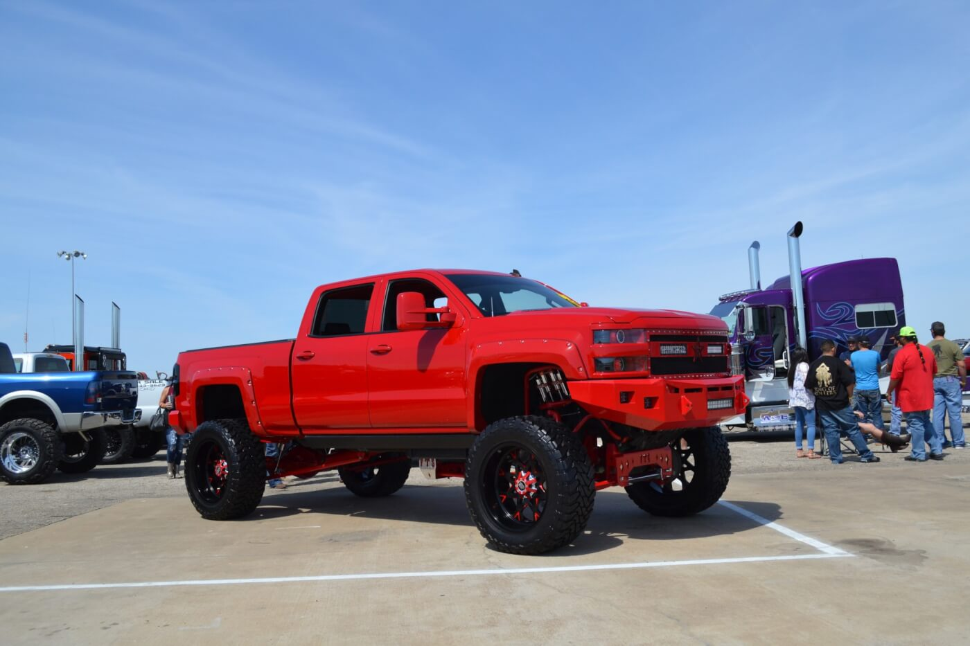 On Saturday, many trucks owners polished up their rigs to a bright sheen for the show 'n shine competition. This red Duramax-powered rig was one of the cleanest and most tastefully modified rides in attendance.