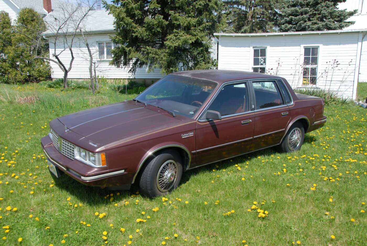 The Lt7 Front Drive V 6 From Oldsmobile 1993 Cutlass Ciera Engine Diagram Dark Maple Red Metallic Paint May Be Fading But You Can Still See Lovely
