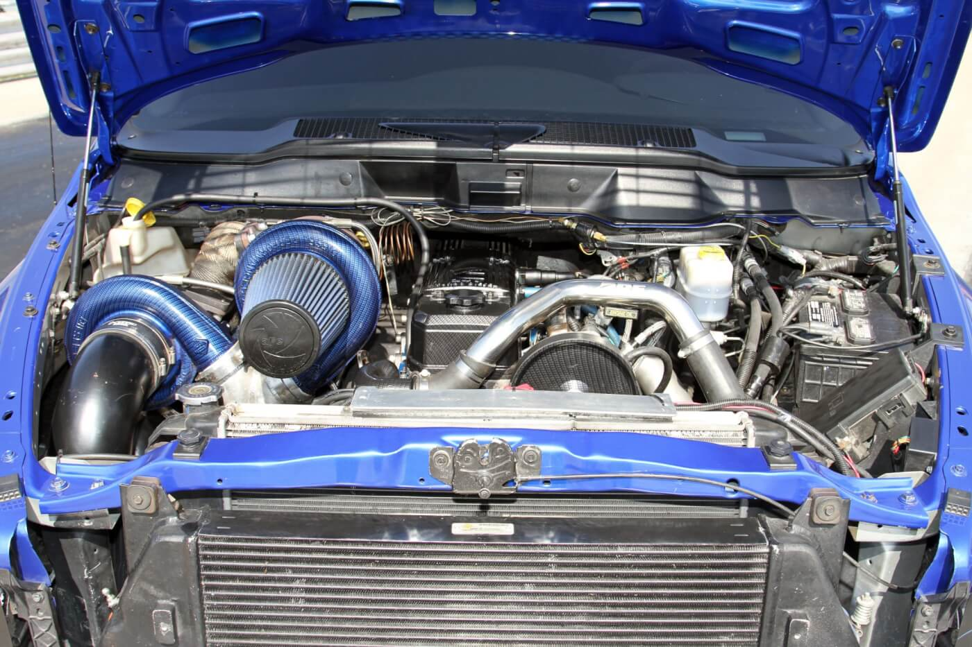 The heart of this beast is a triple-turbo 5.9L Cummins that makes 1,385 horsepower and 2,055 lb-ft of torque.