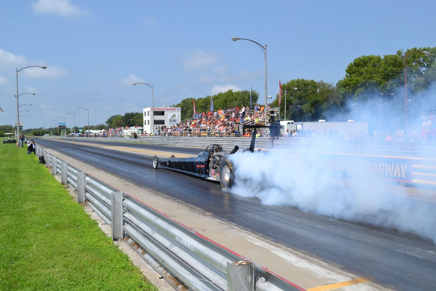 The quickest and fastest diesel drag vehicle is Scheid Diesel's Dragster, which has run 6.32 at 228mph in the quarter-mile! The Scheid dragster uses a 2,500-hp Cummins-based engine hooked through a triple-disc clutch to a Lenco transmission.