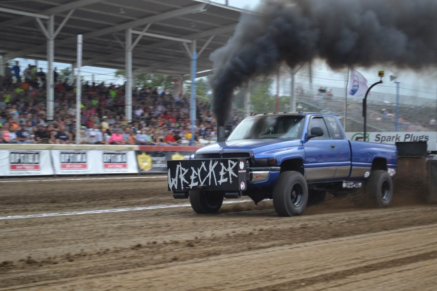 """As you can see by the chassis flex on """"The Wrecker,"""" sled pulling is an extremely demanding sport, which requires extensive upgrades to compete on a national level."""