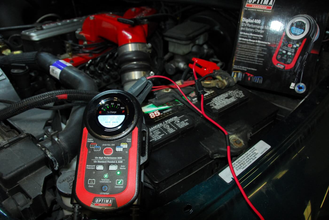 4. Optima's Digital 400 charger brought back the old batteries briefly, enough to get the engine started. But further testing indicated they were just too far gone. Putting a charger on your truck to keep the batteries topped off is a wise move, especially if it has a number of aftermarket accessories that pull more current.