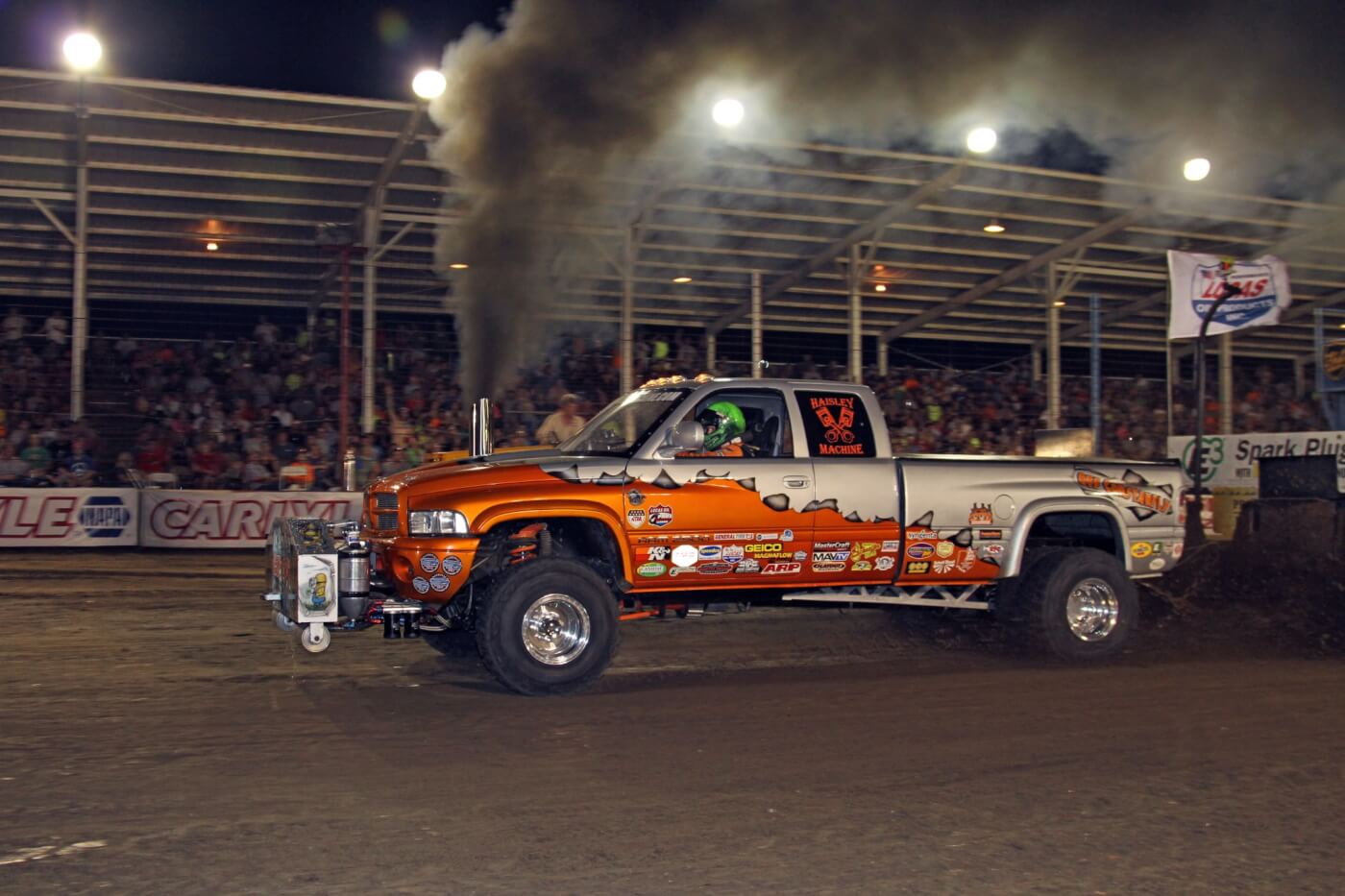 """Like the Scheid dragster, the Haisley Machine """"Off Constantly"""" pulling truck is a monster that's even more impressive in person. The Haisley crew attends a lot of pulls throughout the year and odds are that if it's a major pull they will be there and in contention for the win."""