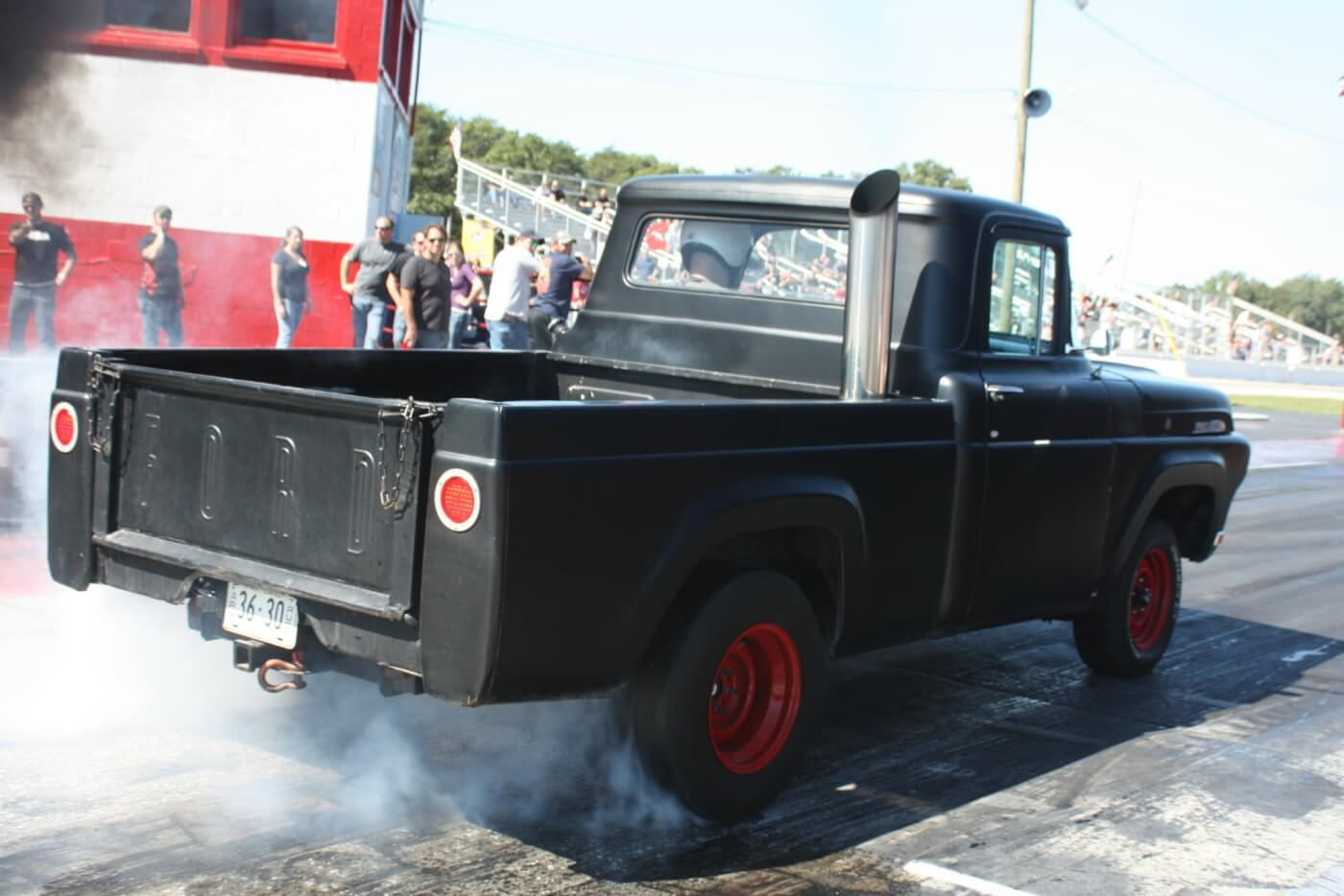 This old Ford pickup showed up to the event with a 12V Cummins powerplant under the hood, ready to turn some heads in the stands while breaking hearts on the track. While it may not look like much, the truck could hold its own on a 1/4-mile dragstrip.