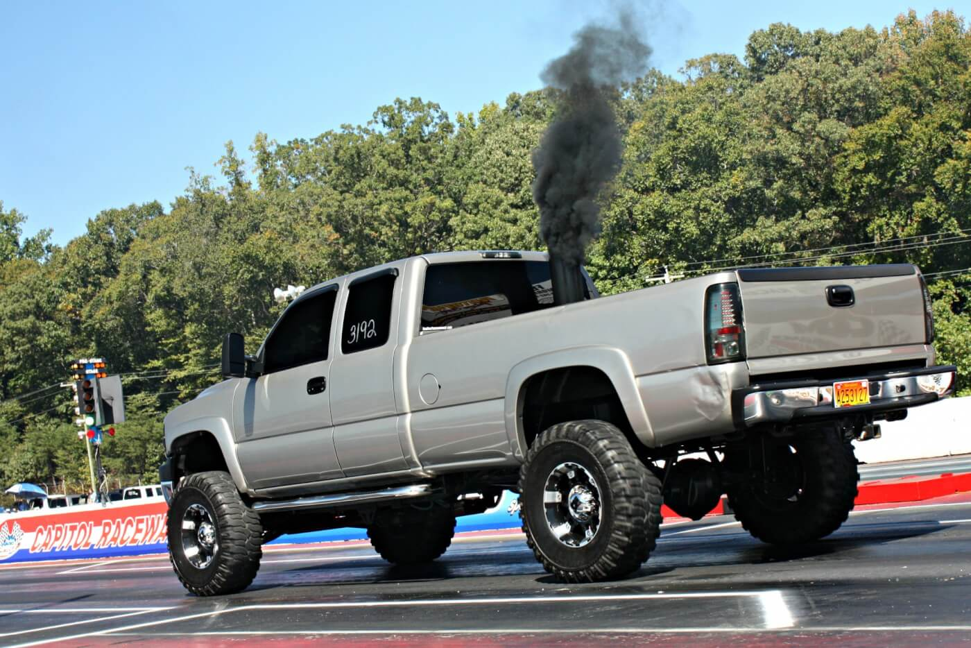 Lowered or lifted, diesel is diesel and a true bracket racer won't care about the overall e/t as it just takes a consistent truck and quick reaction time to win rounds.
