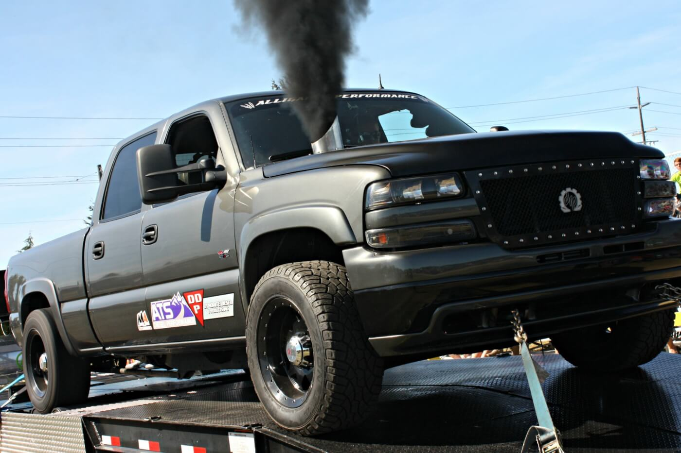 Lead fabricator at Deviant Race Parts, Chris Rosscup, owns this sporty LB7 Duramax with countless hours and hard work into a full engine and transmission build that ended up rolling over 1,000 hp on the Auto Trends Motorsports portable chassis dyno.