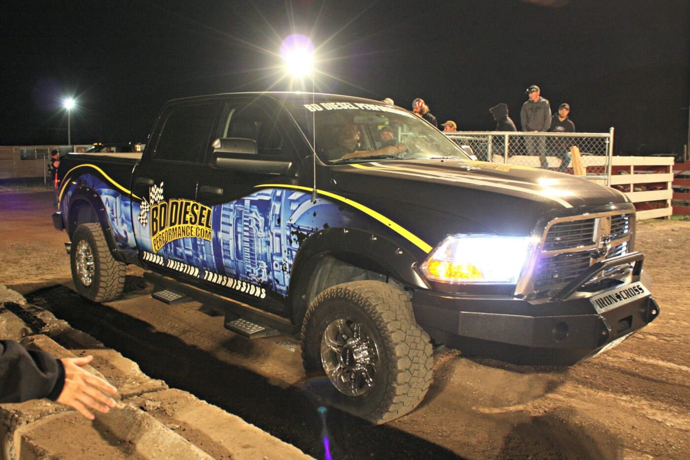 The crew at BD Diesel definitely knows how to market parts… plaster your name on the side of a truck equipped with your products and enter a dirt drag event. Chris Osborne of BD Diesel took this Dodge clear to the final round where he took the big win against Chris Rosscup's 2002 Duramax.