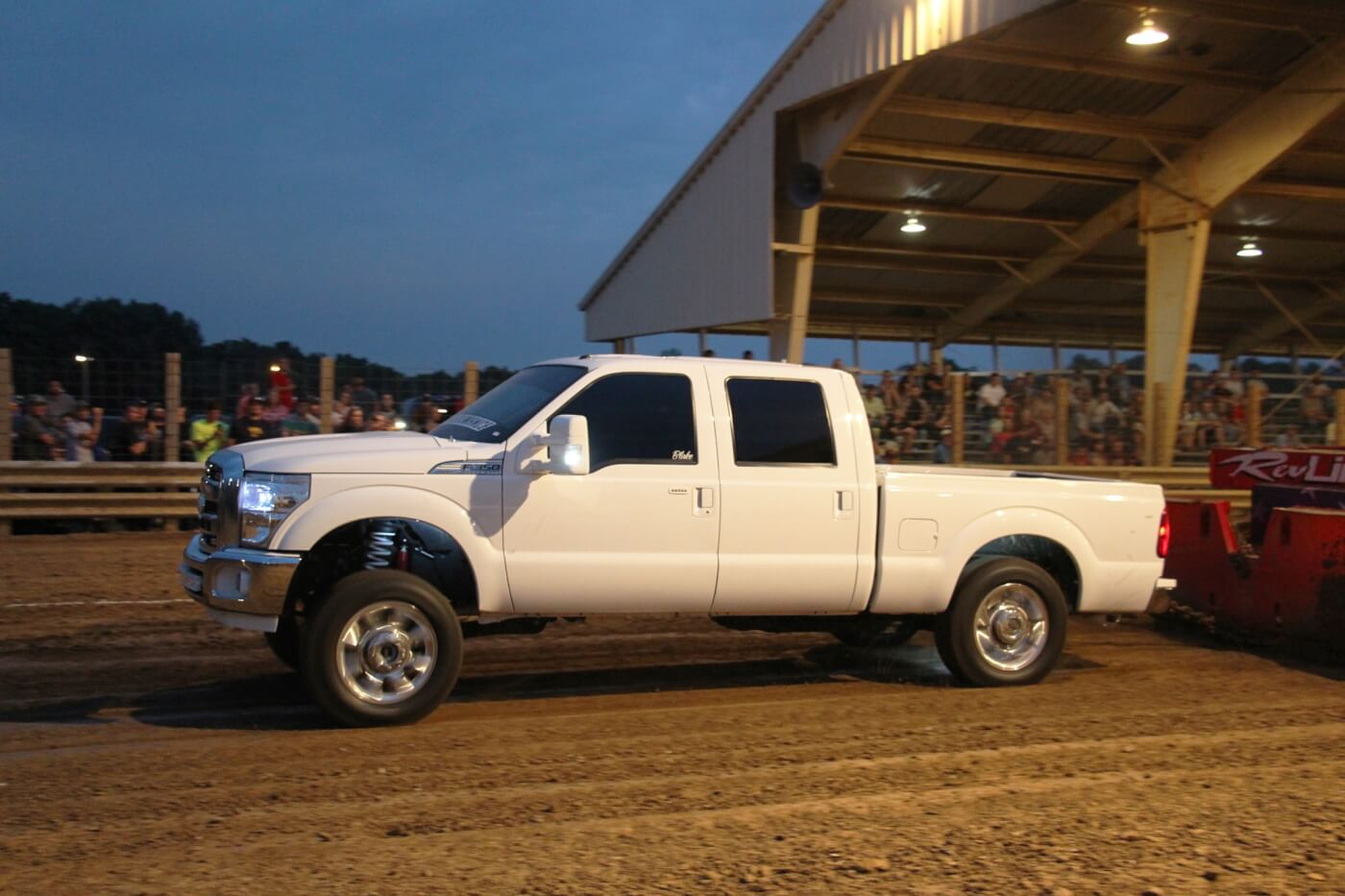 With River City Diesel (primarily a Power Stroke shop) hosting the truck pull, there was no shortage in Blue Ovals turning out to compete. Blake Beauford piloted one of the newer trucks in attendance, his '12 F-250, to the 9th spot in Work Stock.